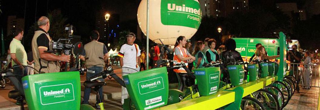 Unimed Fortaleza inaugura sistema de bicicletas compartilhadas