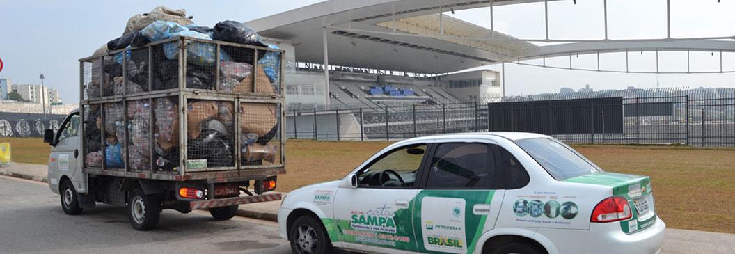 Rede Cata Sampa processa recicláveis durante Olimpíadas em São Paulo
